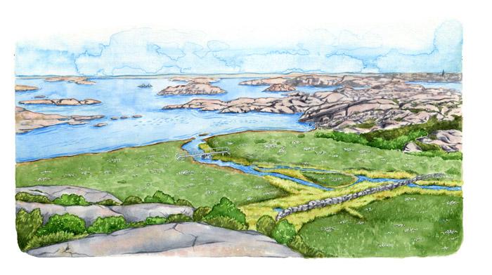 Naturreservatet på Gåsö i Bohuslän